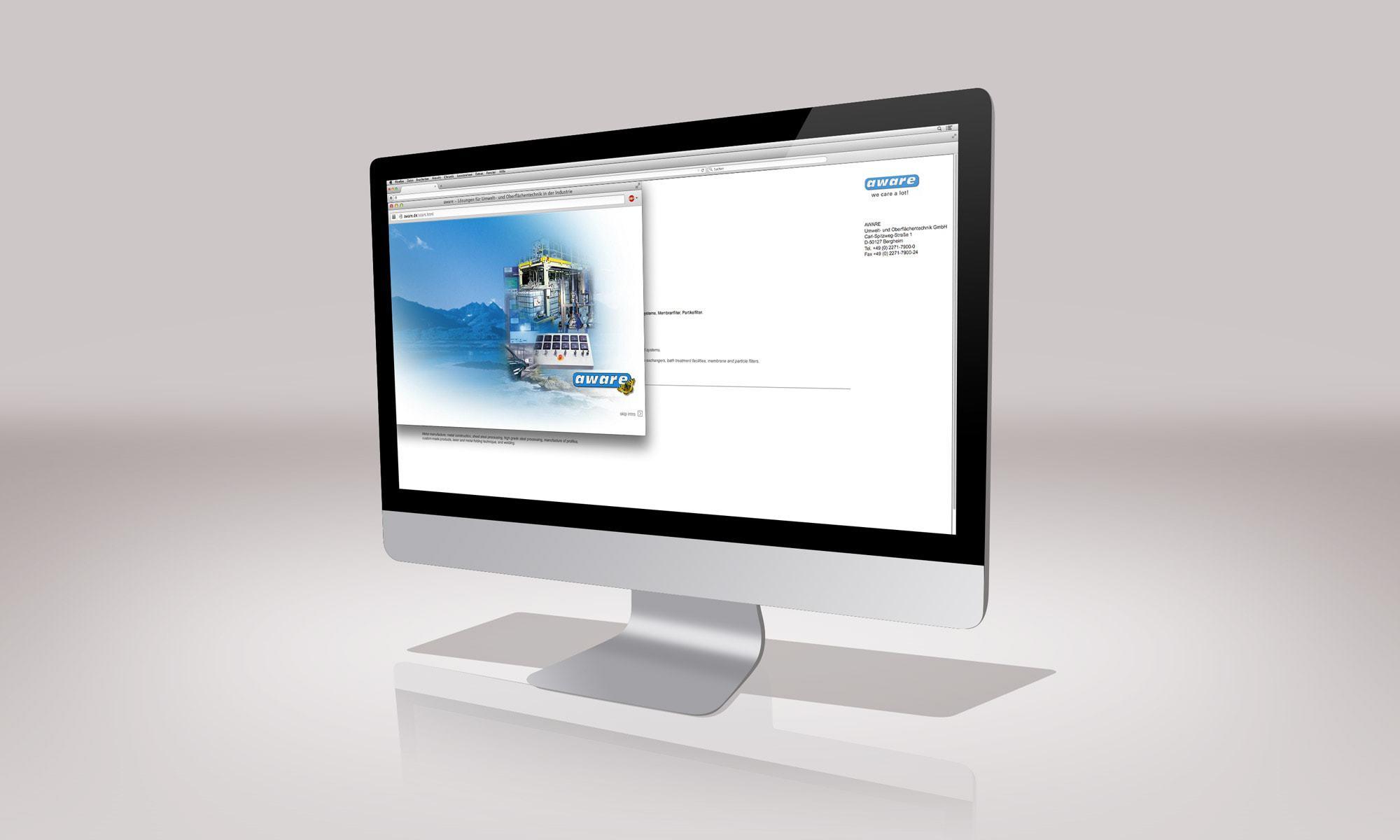 Aware Umwelt- und Oberflächentechnik – Website